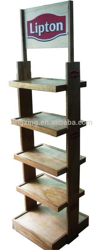 Tea Metal Display stand metal POP tea display rack for grocery stores