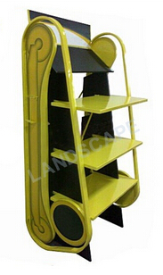 Floor standing popular lube oil display shelf/ promotional engine oil display stand