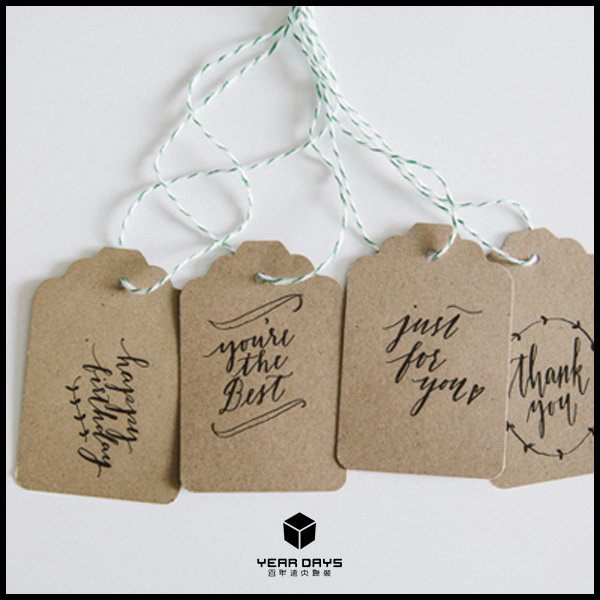 Cheap best sell paper vintage hang tag