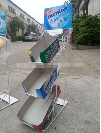 Pop up counter top display rack for candy promotion