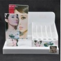 White Plastic Cosmetic Counter Display Stand 010