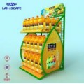 Customized orange beverage display stand/New design retail floor display stand