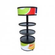 Metallic Rotating Floor Stand with PVC Graphic