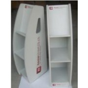 MDF Wood Magazine Stand with Separate Shelves